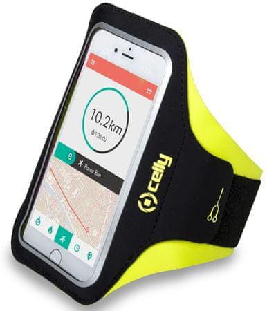 """Celly Sportovní neoprénové pouzdro ARMBAND, velikost XXL pro telefony do 6,2 """", žluté, ARMBANDXXLYL"""