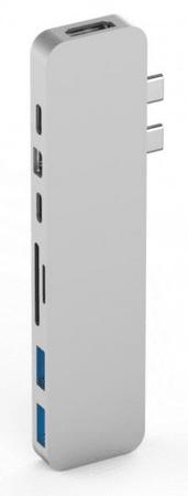 Hyper HyperDrive PRO USB-C Hub pre MacBook Pro - Strieborný, HY-GN28D-SILVER