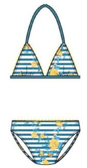 Carodel dievčenské plavky 164 žltá / modrá