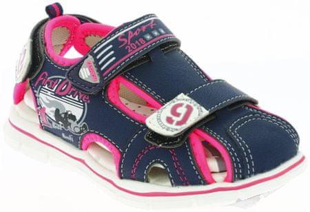 V+J dievčenské sandále s formulou 26 ružová / modrá