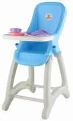 Polesie Vysoká stolička pre bábiky, modrá