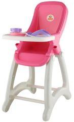 Polesie Vysoká stolička pre bábiky, červená