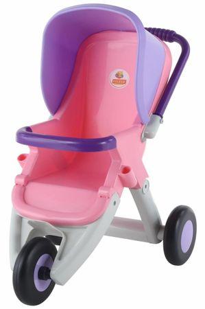 Polesie kolica za lutke, 3 kotača, roza