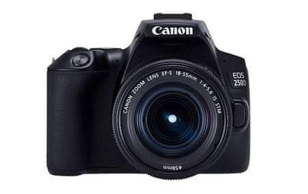 Canon fotoaparat EOS 250D + EF-S 18-55 IS STM, črn