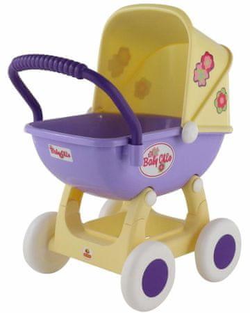 Polesie kolica za lutke Ariana, 4 kotača, žuta