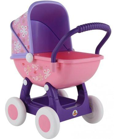 Polesie kolica za lutke Ariana, 4 kotača, roza