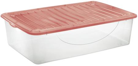Tontarelli DODO STOCK-BOX s vekom 27L transparent / červená