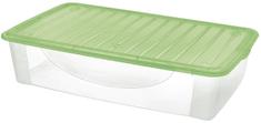 Tontarelli pudełko do przechowywania z pokrywą DODO STOCK-BOX, 27 l transparent/zielone