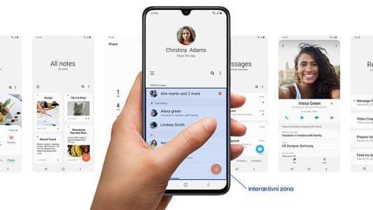 Samsung Galaxy A70, intuitivní uživatelské rozhraní One UI, noční režim