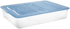 Tontarelli organizer z wiekiem DODO STOCK-BOX, 56,4L transparentny/jasnoniebieski