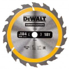 DeWalt list krožne žage za les 18 zob, 184x16mm DT1938