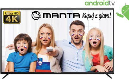 Manta 4K-UHD LED TV-prijemnik 65LUA79M, Android, Smart, HDR, WiFi