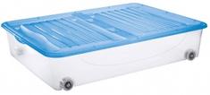 Tontarelli organizer z wiekiem DODO STOCK-BOX, kółeczka 56,4L transparentny/jasnoniebieski;79X59XH16.9CM