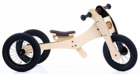 TryBike drveni bicikl / tricikl 4u1, smeđi