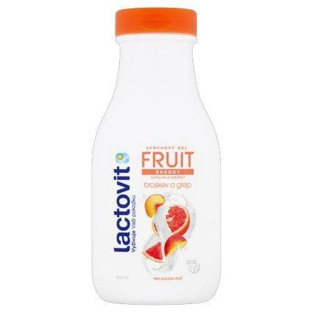 Lactovit Energikus tusfürdő őszibarack és grapefruit (Fruit Shower Gel) (árnyalat 300 ml)