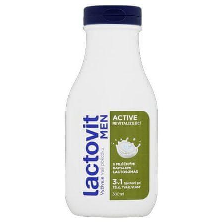 Lactovit Rewitalizujący żel pod prysznic dla mężczyzn Men Active 300 ml