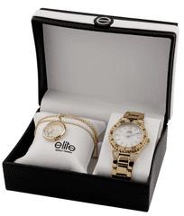 Elite Models dámska sada hodiniek a náhrdelníka E53244G-101