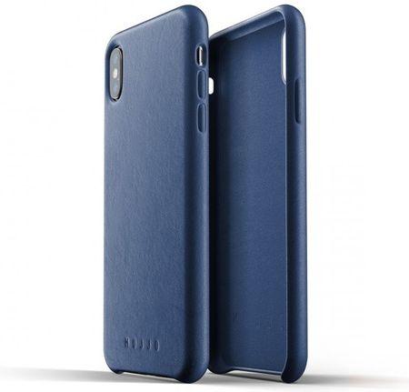 Mujjo etui Full Leather Case na iPhone X - niebieskie, MUJJO-CS-095-BL