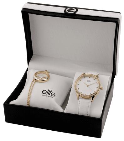 Elite Models komplet ženske ročne ure in zapestnice E54882-102