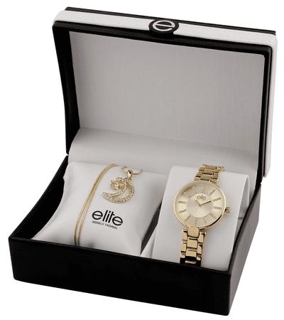 Elite Models dámská sada hodinek a náhrdelníku E55024-102