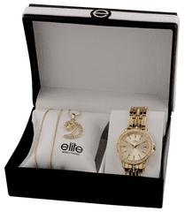 Elite Models dámska sada hodiniek a náhrdelníka E54694-131