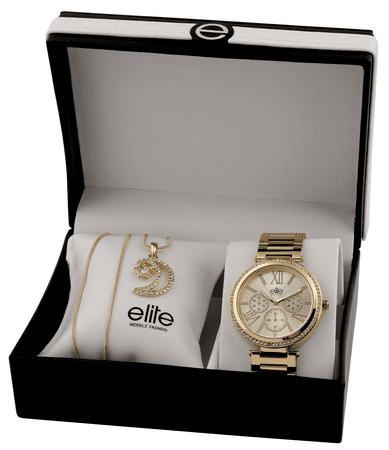 Elite Models ženski komplet za uro in ogrlico E54794-102