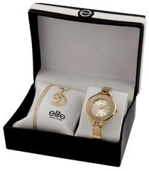 Elite Models dámska sada hodiniek a náhrdelníka E54484G-102