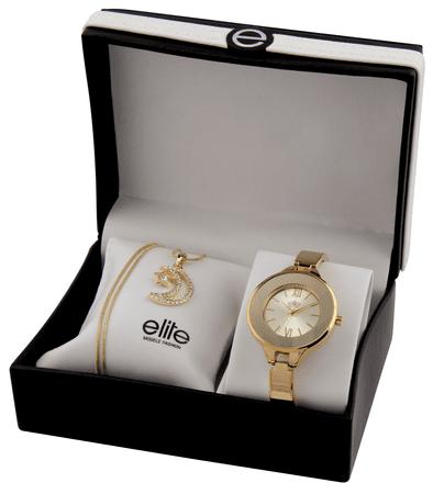 Elite Models ženski komplet za uro in ogrlico E54484G-102