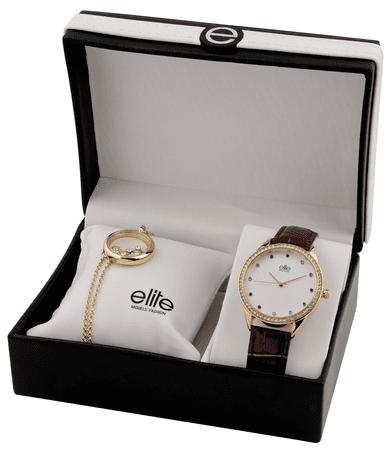 Elite Models óra és nyaklánc női szett E55072-105