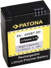 PATONA Baterie pro digitální kameru GoPro HD Hero 3 1180 mAh, Li-Pol PT1150