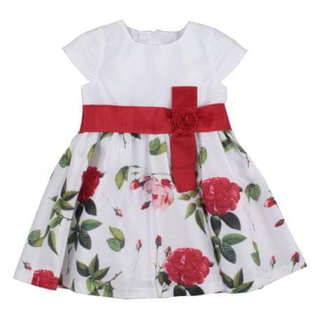 North Pole sukienka dziewczęca w kwiaty 98 biały