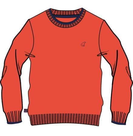 North Pole chlapčenský sveter 122 červená