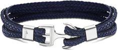 Lotus Style Ciemno niebieski Skórzanabransoletka z kotwą LS2006-2 / 2