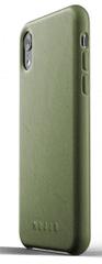 Mujjo Full Leather Case pre iPhone XR - olivový, MUJJO-CS-105-OL