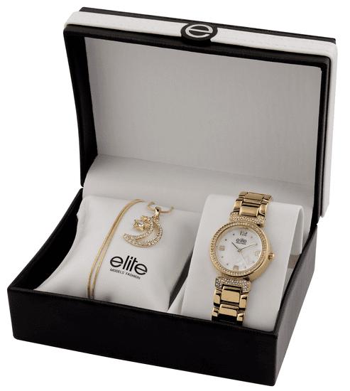 Elite Models dámska sada hodiniek a náhrdelníka E53684-101