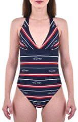 Tommy Hilfiger Jednodielne plavky Classic One-Piece RP Hrtg Logo Str Navy Blazer UW0UW01495-411