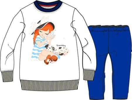 North Pole dievčenská tepláková súprava 62 - 68 biela / modrá