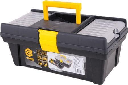 """Vorel Box na náradie plastový 12"""", 1 zámok, 30 cm (TO-78811)"""