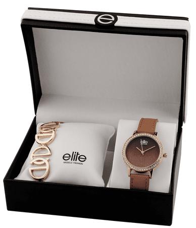 Elite Models női karóra és karkötő készlet E54494-812