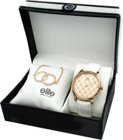 Elite Models komplet ženske ročne ure in zapestnice E54432G