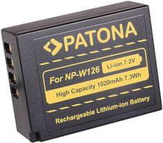 PATONA Baterie pro foto Fuji NP-W126 1 020 mAh Li-Ion PT1111