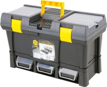 """Vorel Box na náradie plastový 20""""+ 3× zásuvka (TO-78814)"""