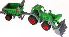 Wader Traktor Farmár s lopatou a prívesom