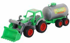Wader Traktor Farmár s lopatou a cisternou