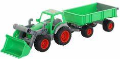 Wader Traktor Farmár s lopatou a prívesom 2 osi