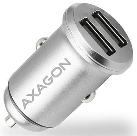 AXAGON PWC-5V4, mini SMART nabíječka do auta, 2× port 5 V - 2,4 A + 2.4 A, 24 W, PWC-5V4
