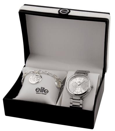 Elite Models dámska sada hodiniek a náramku E54794-204