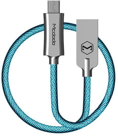 Mcdodo Knight Micro USB dátový kábel, 1 m, modrý, CA-4401