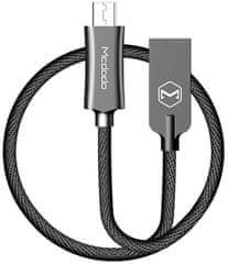 Mcdodo Knight Micro USB datový kabel, 1,5 m, černý, CA-4402