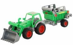 Wader Traktor Farmár s prívesom a lyžicou